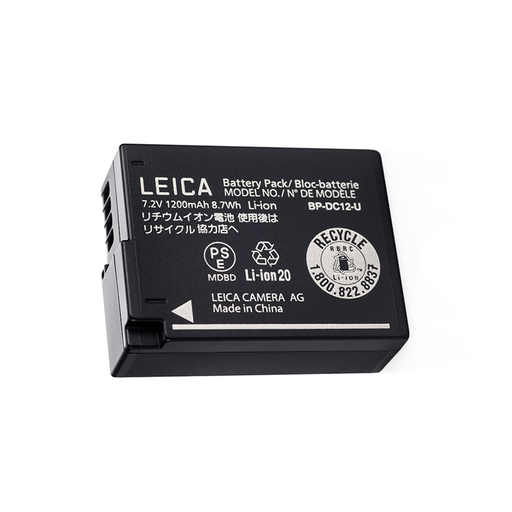 LITHIUM-ION BATTERY, BP-DC 12 for Leica Q and Leica V-Lux 5