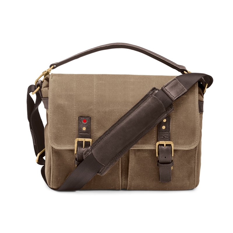 LEICA COLLECTION BY ONA, PRINCE STREET CANVAS CAMERA MESSENGER BAG - FIELD TAN