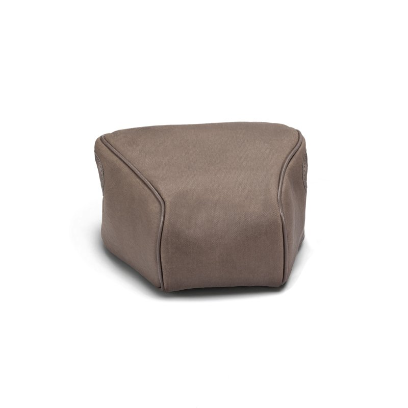 Ettas Pouch, coated Canvas, stone grey For Q / Q2