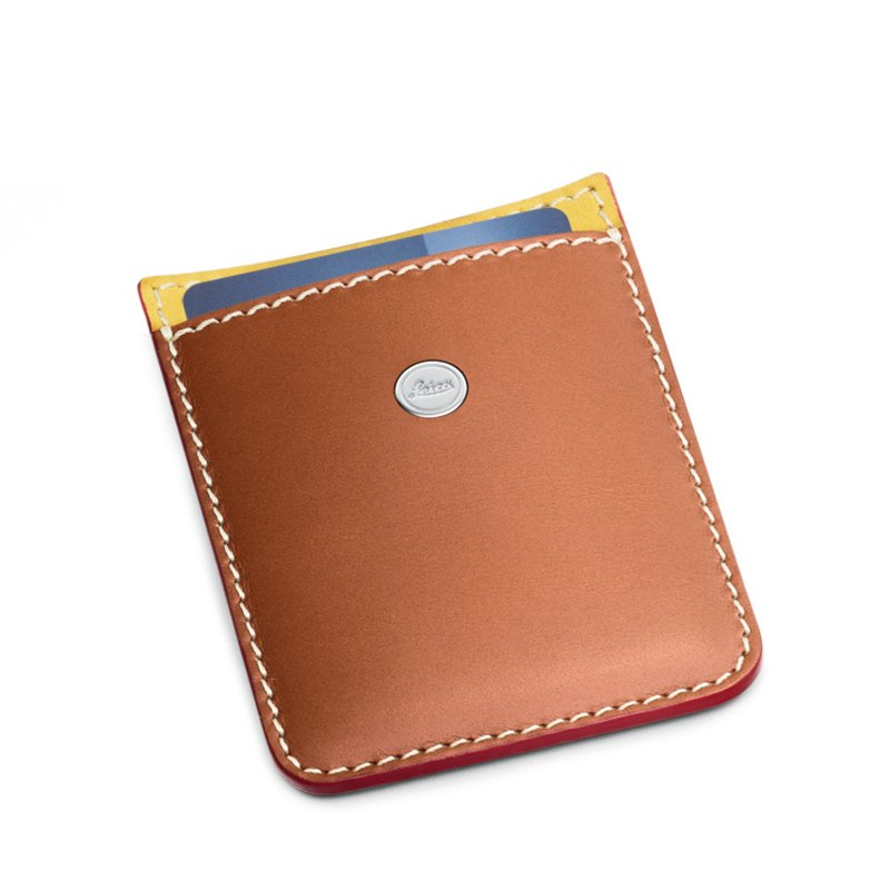 LEICA BULL LEATHER CARD HOLDER BY SCHEDONI