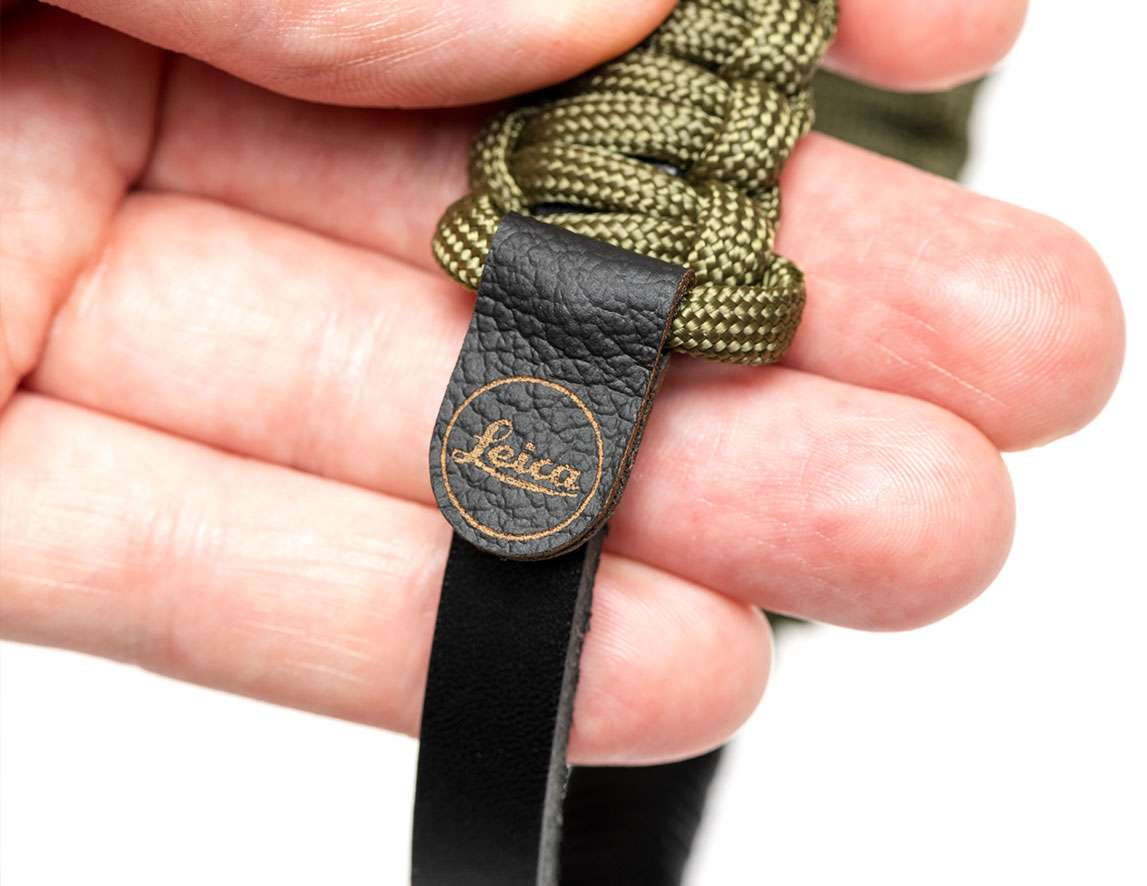 Paracord Strap created by COOPH, black/olive, 126 cm